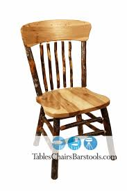 Rustic Hickory Wood Restaurant Chairs