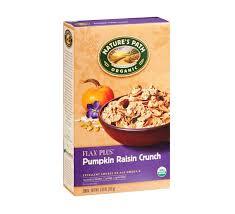 Pumpkin Flaxseed Granola Nutrition Info by Path Organic Flax Plus Pumpkin Raisin Crunch Cereal