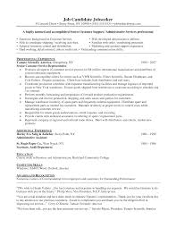 Objective Resume Examples Customer Service For Study Statement