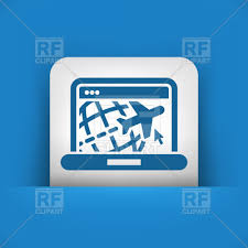 Website Of Travel Agency On Laptop Icon 62881 Download Royalty Free Vector