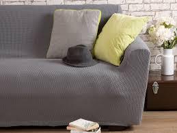 housse de canapé grise housse de canapé 3 places bi extensible
