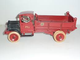 100 Pink Dump Truck SOLD ARCADE WHITE DUMP TRUCK 1112 INCH 1929 Antique Toys USA