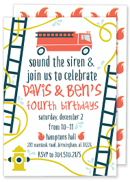 Fire Truck Birthday Invitation – Gilm Press