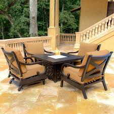 Patio Conversation Sets With Fire Pit by Fire Pit Sets With Seating Crafts Home