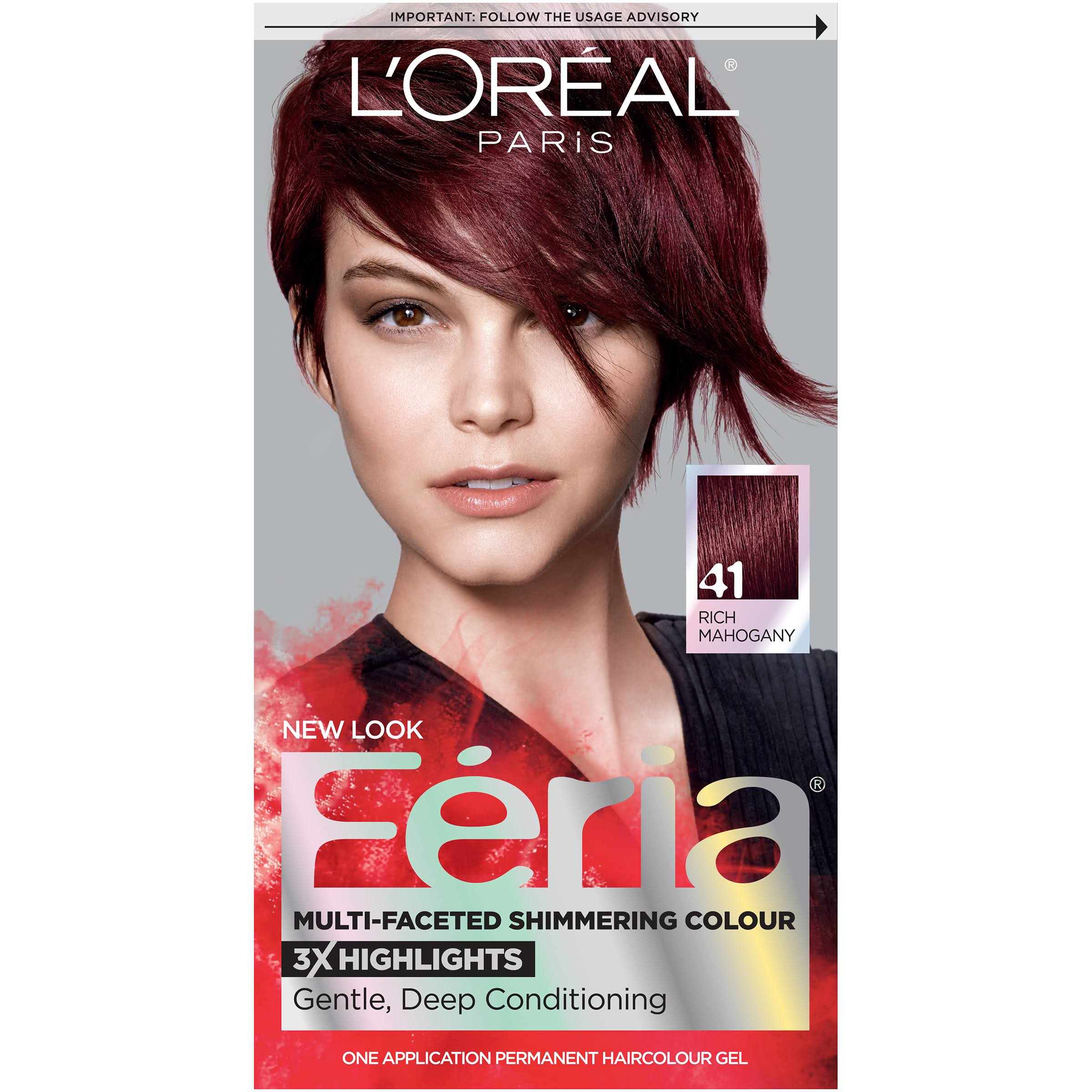 L'Oréal Paris Feria Permanent Hair Color - 41 Rich Mahogany