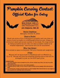Pumpkin Contest Winners 2013 by 2013 Pumpkin Carving Contest Official Rules Flyer Raleighhillsortho