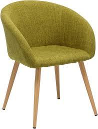 esszimmerstuhl aus stoff leinen farbauswahl retro design stuhl mit rückenlehne metallbeine holzoptik wy 8023 farbe grün material stoff