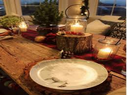 Rustic Christmas Table Centerpieces Decorating