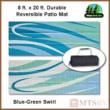 Reversible Patio Mats 8 X 20 by Mmi Reversible Patio Mat 8x20 Ft Blue Green Swirl Durable