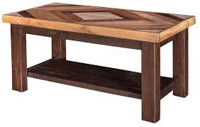 Wood Diamond Coffee Table