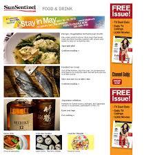 newsletter cuisine food drink newsletter sle sun sentinel
