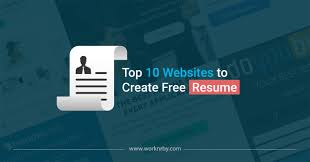 100 Create Resume For Free Top 10 Websites To Worknrby