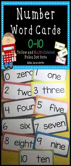 Number Word Cards 0 10