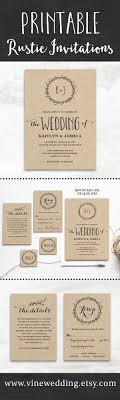 Rustic Wedding Invitations Amazing Stores Beautiful Editable Instant Download Templates You
