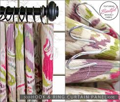 Making Curtains For Traverse Rods by Traditional Hook U0026 Ring Curtain Panel Waverly World Sew4home