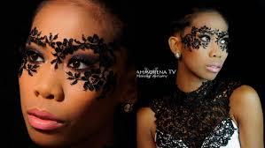 Halloween Half Mask Makeup by Diy Masquerade Lace Mask Makeup Tutorial Youtube