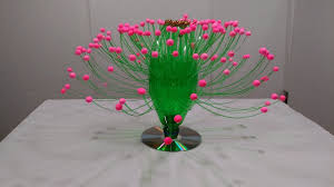 Empty Plastic Bottle Vase Making Craft Water Recycle Flower Art Decoration Idea