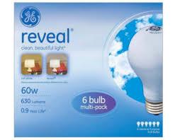 ge reveal 60w light bulb 72 pack only 19 reg 36 modmomtv