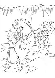 Frozen Hans Is Trying To Settle The Horse Down Coloring Page