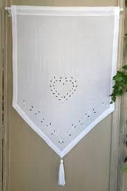 rideau brise bise coton blanc maroquinerie