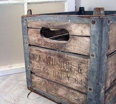 Cool Vintage Wood And Metal Milk Crate