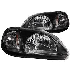 anzo usa honda civic 99 00 headlights black