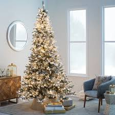 Flocked Blue Ridge Spruce Christmas Tree With Instant Glow Power Pole By Sterling Company