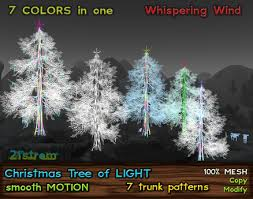 Christmas Tree Of Light In 7 Colors W Smooth Motion Effect Low Prim