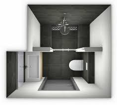 bagno piano 3m2 piccola area bagno in bianco e nero 3m2