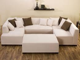 canape angle en u canapé d angle tissu en u mat 8 9 places marron 25929