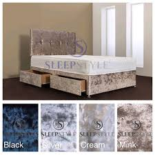 Velvet Super King Headboard by Sleep Style Upholstered Divan Bed U0026 Headboard Including Memory