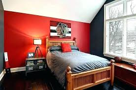 Red Accent Wall Bedroom With Walls Striking