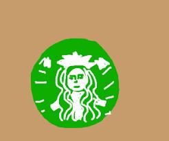 Starbucks Logo Drawing By Lakeswirl