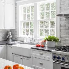 beveled marble subway tile cottage kitchen stiles