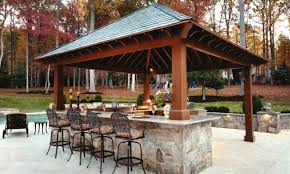 Cheap Patio Bar Ideas by Beautiful Landscape Around And Shipshape Grass For Outdoor Bar