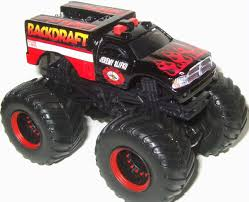 Backdraft Custom Dodge RAM Hot Wheels 1 64 Monster Jam Truck