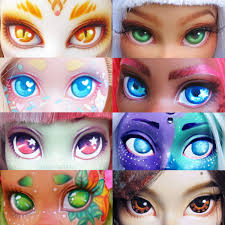 Dollightful Doll Eyes Palette 1 Doll Repaint Pinterest Dolls