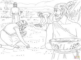 Click The Gathering Manna From Heaven Coloring Pages