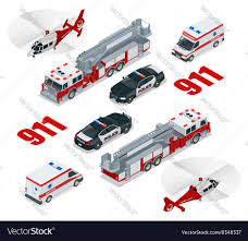 100 Fire Trucks Unlimited Emergency Concept Ambulance Police Truck
