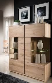 eichenmöbel mit frontfräsung wohnzimmer helles massiv holz