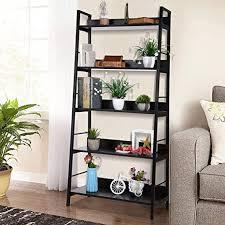 nakey bücherregal eckregal schwarz wandregal holz metall regal 5 fächer für wohnzimmer küchenregal badezimmer bücher schuhe 150x70x35cm