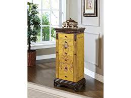 Powell Masterpiece Hand Painted Jewelry Armoire - Dunk & Bright ... Powell Woodland Cherry Jewelry Armoire 605318 Transitional Cheval Mirror Hayneedle With Canada Style Guru Fashion Glitz Masterpiece White Fniture Accsories 605 Free Standing Chest Dark Louis Philippe The Mine Shop Classic Floorstanding Armoires Home Appliances Mirrored Living Antique Walnut Locking