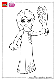 LEGO Disney Princess Coloring Page Rapunzel