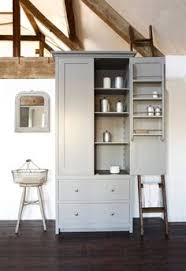 Free Standing Corner Pantry Cabinet by Freestanding Corner Pantry For Extra Storage In The Hallway For