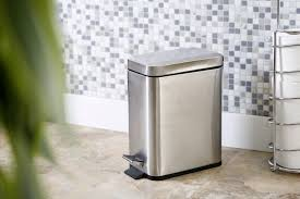 Small Rectangular Bathroom Trash Can by 5l Profile Step Can By Bino Trash Cans