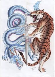 Elegant Dragon And Tiger Tattoo Designs 77 On Sleeve With