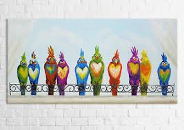 ys acryl gemälde lustige vögel handgemalte bilder