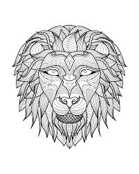 Coloring Page Adult Lion Head Free Sample Pages For Adults Easy Disney Cars Full Size