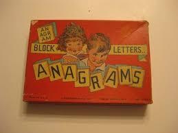 Vintage Anagrams Game 1930s J Pressman Board