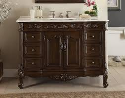 42 Inch Bathroom Vanity Cabinet With Top by Adelina 42 Inch Antique Bathroom Vanity Fully Assembled White